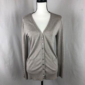 PHILOSOPHY button down v neck sweater medium